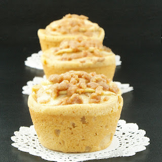Warm Apple Cinnamon Crumb Cakes with Calvados