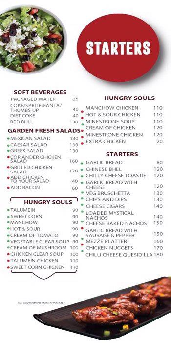 Hudson Cafe menu 1