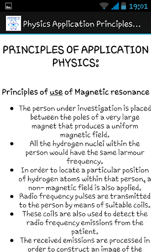 Physics Application Principles
