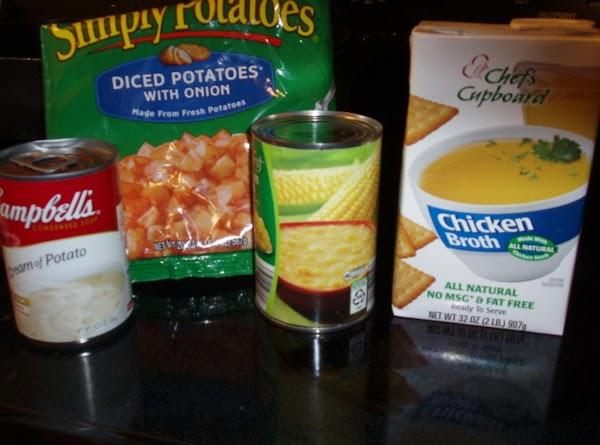 In crockpot Add first five things . I was using a 6 quart crockpot.