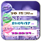 Sweet Pink Digital ClockWidget
