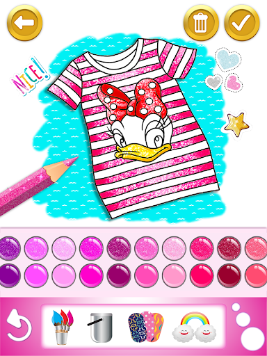 Glitter dress coloring and drawing book for Kids screenshot 14