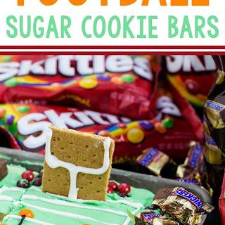 Football Stadium Sugar Cookie Bars