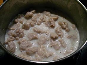 Photo: fish dumpling coconut sauce