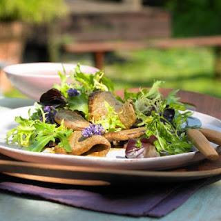 Marinated Beef with Salad.