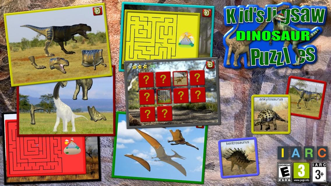 Kids Dinosaur Puzzles- screenshot
