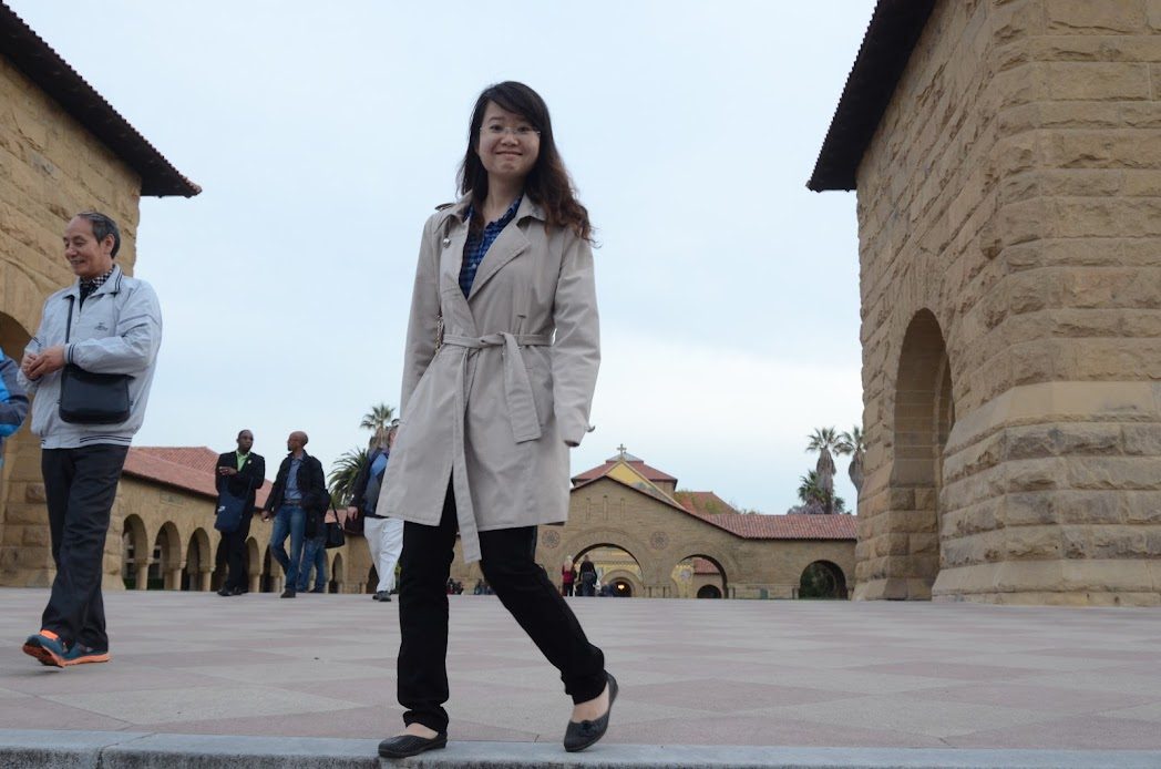 Anh Ngoc Dang at Stanford University campus