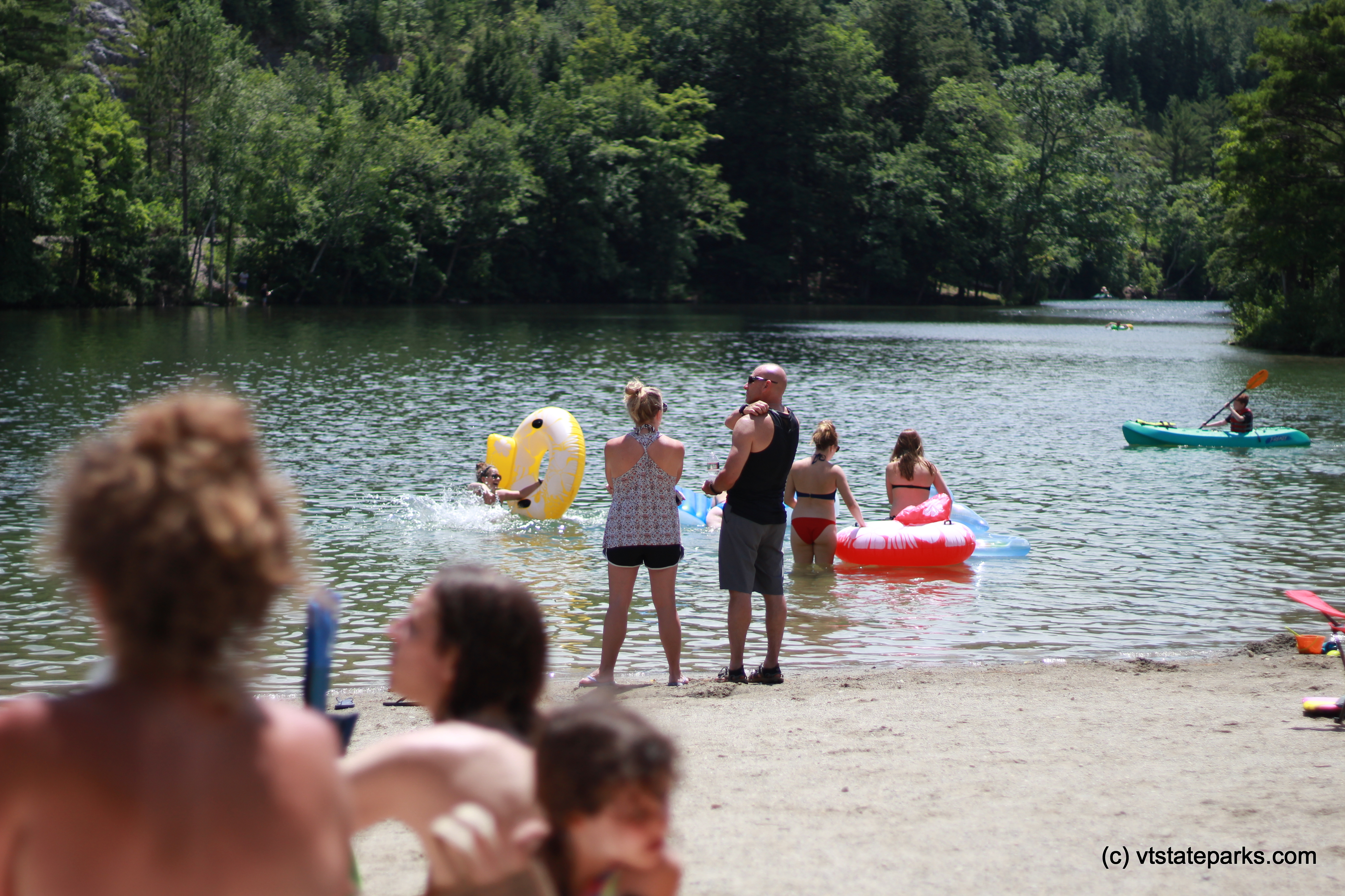 Photo: Friends and family enjoy the beach at Emerald Lake State Park by Cara Goodenough