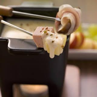 Ham and Potato Swiss Cheese Fondue.
