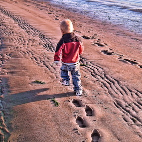 Maddox on the beach by Christy Sawyer - Babies & Children Children Candids