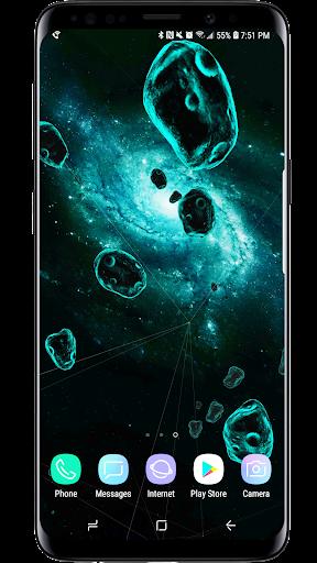 Space Particles 3D Live Wallpaper  screenshots 1