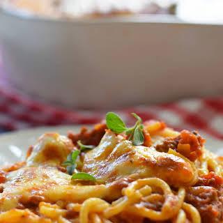 Ultimate Baked Spaghetti.