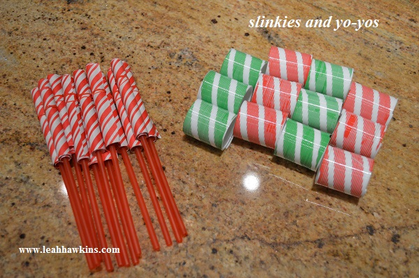 slinkies and yo-yos for the holiday party