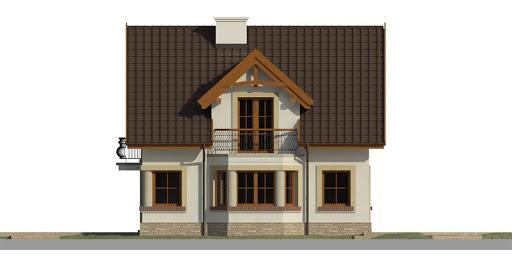 Dom przy Przyjaznej 9 - Elewacja prawa