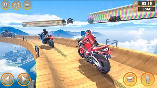 Mega Ramp Impossible Tracks Stunt Bike Rider Games 2.9 screenshots 3