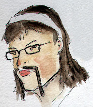 Photo: next Movember girl doodle is +Amy Carrigan sporting an epic handlebar moustache