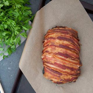 Bacon-wrapped Pork Meatloaf.