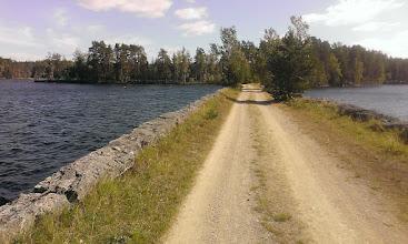 Photo: Дорога между двух озер. Дамба