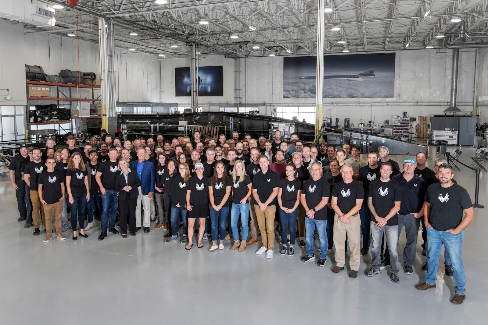 The Boom Supersonic team