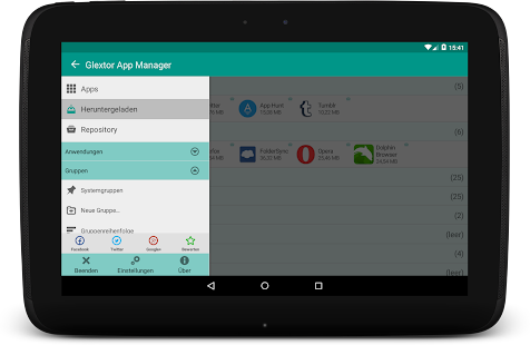 Glextor AppManager & Organizer - screenshot thumbnail