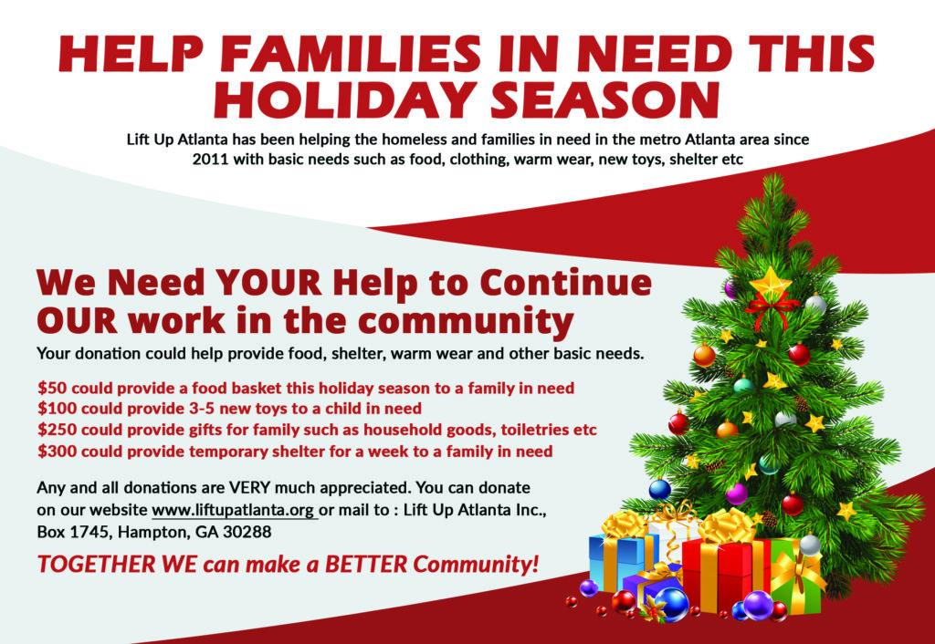 Atlanta holiday donation and toy drives