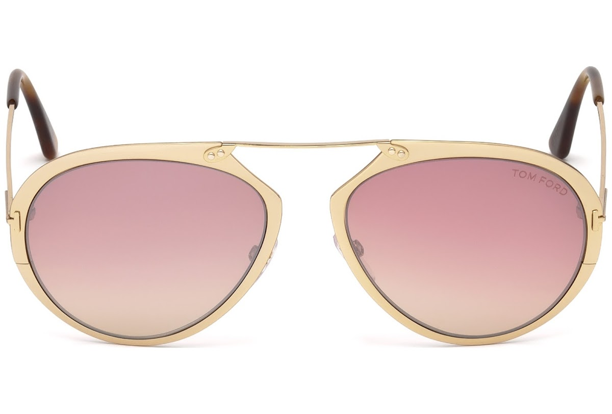 504d1ee3c24f2 Sunglasses Tom Ford Dashel FT0508 C53 28Z (shiny rose gold   gradient)