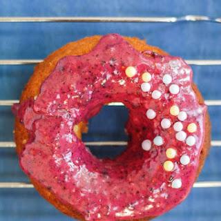 Grain-Free Vegan Blueberry Lime Cake Donuts