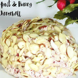 DRIED FRUIT AND HONEY CHEESE-BALL.