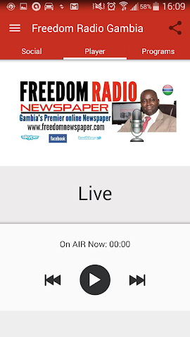 android Freedom Radio Gambia Screenshot 1