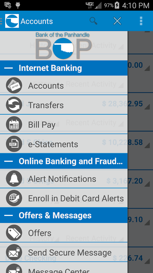 myBOP Mobile Banking- screenshot