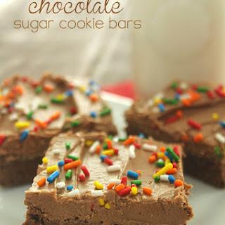 Chocolate Sugar Cookie Bars