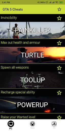GTA 5 Cheats 1.0.0 screenshots 1