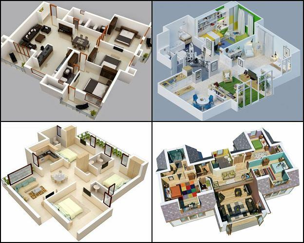3d house floor plans design screenshot