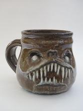 """Photo: Mug 7 * nasty smile * 3.75"""" tall. *  Holds ~ 1.33 cups"""