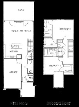 Maple Townhome Floorplan Diagram
