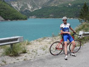 Photo: Ben and the Lac de Chaudanne
