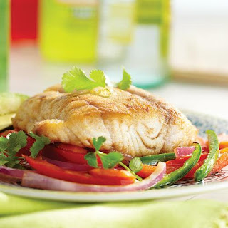 Spicy Sauteed Snapper over Vegetables