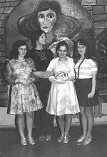 Photo: Luty 1973 - bal maskowy, Z. Krawczyk z uczennicami
