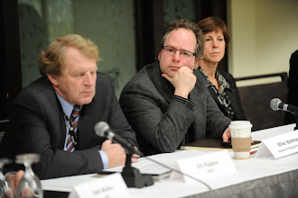 Photo: Jim Rippon, Mike Belmore and Colleen Sidford - CEO panel at the Career Development Seminar