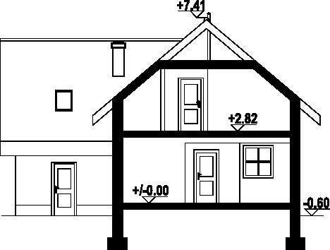 Gładyszów plus - Przekrój