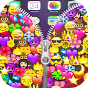 Emojis Zipper Lock Screen