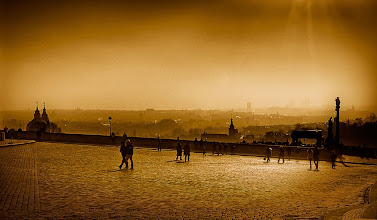 Photo: Morning light near Prague Castle - February 2008 - Quadtone