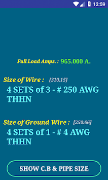 Download nec wire size calculator free apk latest version app for nec wire size calculator free poster greentooth Image collections