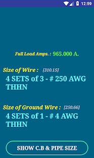 Nec conductor size calc free apps on google play screenshot image greentooth Gallery