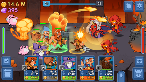 Semi Heroes: Idle & Clicker Adventure - RPG Tycoon  captures d'écran 2