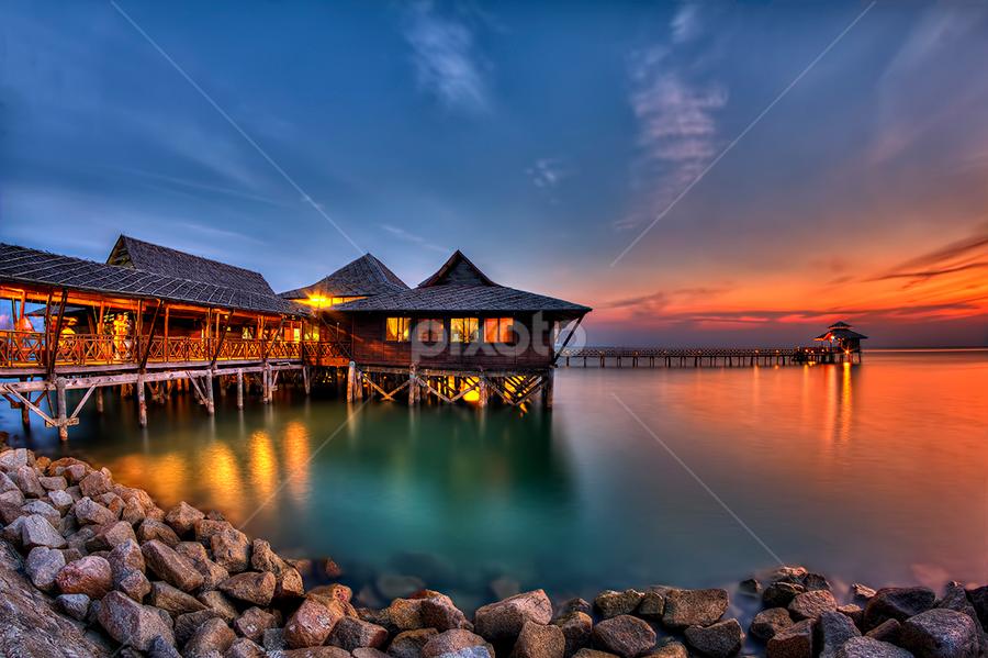 Sunset @ Bintan by Partha Roy - Landscapes Waterscapes ( sunset color, bintan, waterscape, sunset, seascape )