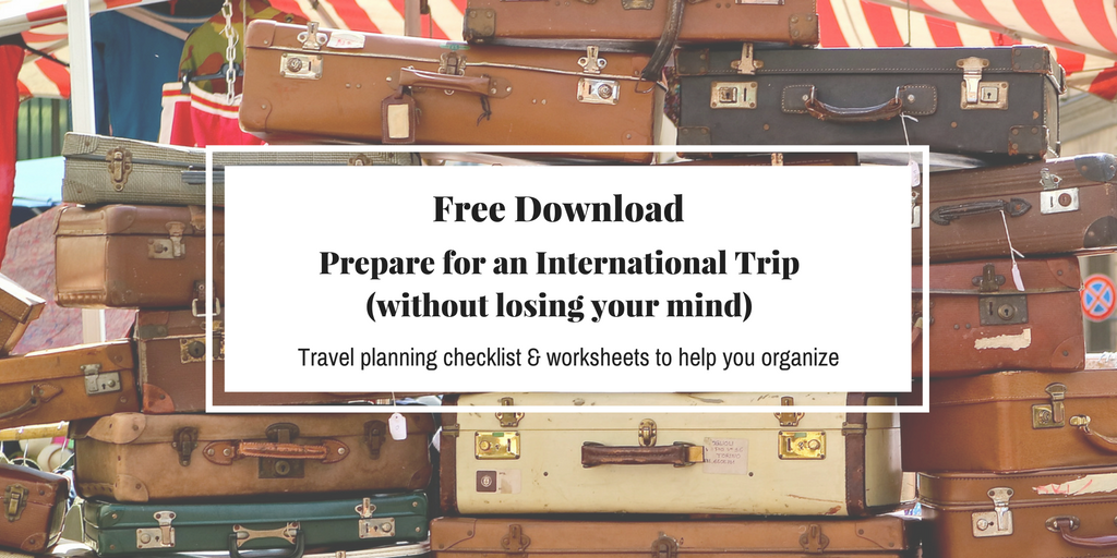 Travel Tips for planning your Europe Trip. How to Prepare for an International Trip without losing your mind | amerryfeast.com