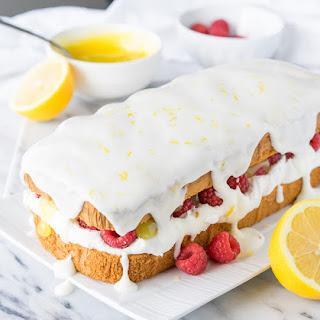 Lemon Raspberry Stuffed Pound Cake