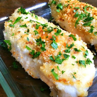 Crispy Garlic Baked Chicken.
