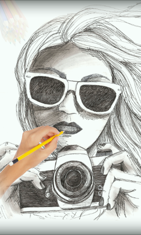 hand painting sketch maker screenshot - Free Sketches To Paint